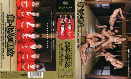 七人のM女達が恥ずかしいポーズで宙吊り拘束され凌辱される 画像
