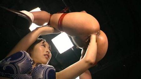 有本紗世 宙吊り開脚拘束されてマンコとアナルにフィストを突っ込まれる 画像