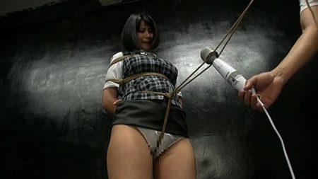 鶴田かな 地下に監禁緊縛されたOLがコブ縄渡りをさせられる 画像