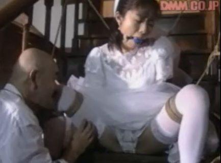 小野美晴 ウェディングドレス姿の花嫁が鬼畜夫に緊縛レイプされる動画 画像