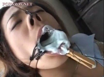 鼻フックでブサイク顔にされた美女が緊縛されて無防備なマンコをベロ舐めされるwww 画像