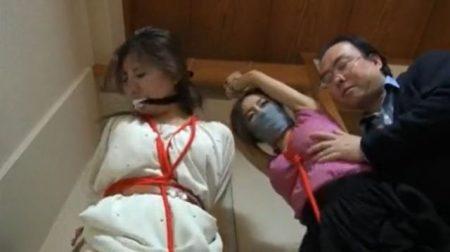 友達の家に遊びに来た女子大生が家に忍び込んで変質者に襲われ緊縛されちゃうwww 画像