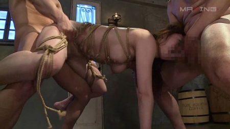 吉沢明歩 監禁拘束された美女が口とマンコを同時に犯される動画 画像