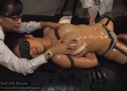 星崎アンリ 研究員が上司に拘束され電流責めにより強制快楽拷問の餌食になる動画 画像