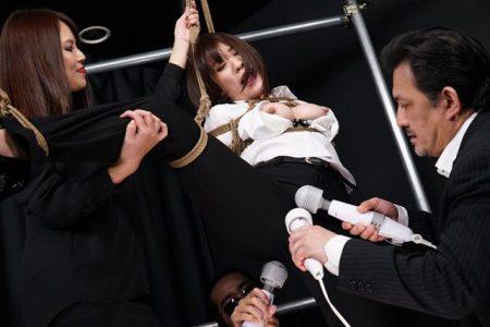 梨々花 敵組織に緊縛された警護隊の女が拘束され電マ責めされる動画 画像