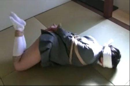 ミニスカのブレザー制服女子校生が緊縛されてパンチラしながら悶え苦しむwww 画像