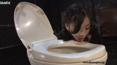 児玉るみ 女警護官のカミソリ班長が便器を舐めさせられて調教される動画 画像