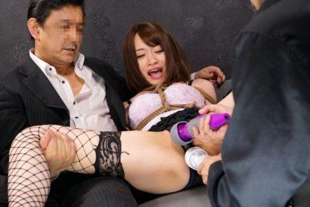 桐山結羽 SMクラブの女王様がチンピラに拘束されて電マ責めレイプされる動画 画像