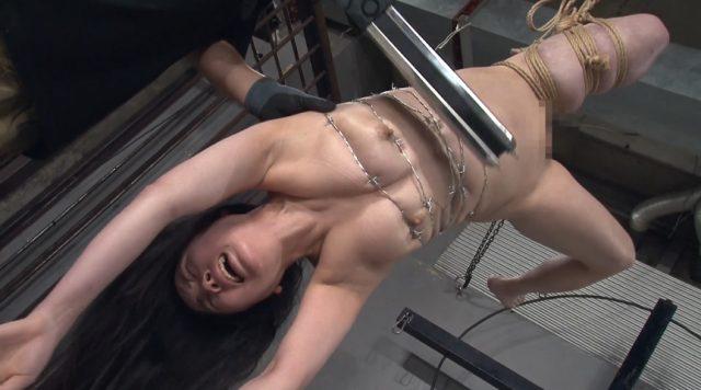 日菜 有刺鉄線で緊縛された拷問メニューの数々に悶絶しちゃう動画