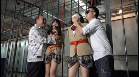 監禁された女子校生が拘束されて下着姿に引ん剝かれちゃう動画 画像